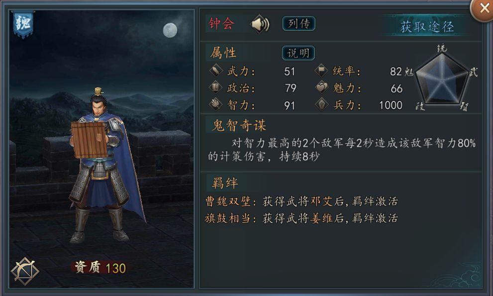 新三國志 UR武将 鍾会
